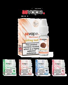 88Vape E-Liquid Vaping Juice 10ml - Assorted Flavours