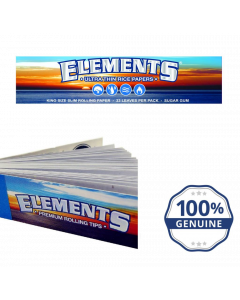 Elements King Size Rolling Paper + Roach Tip Packs